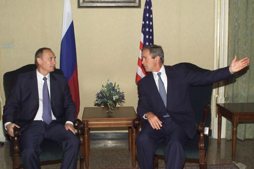 Russian and U.S. Presidents at Genoa Summit